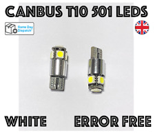 5x CANBUS ERROR FREE T10 501 WHITE NUMBER PLATE LED LIGHT BULBS SIDELIGHTS