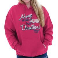 Always Ask For Diretions Jesus Religious Gift Womens Hooded Pullover Sweatshirt