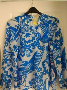 BODEN HEATHER TOP BLOUSE SHIRT MOROCCAN BLUE EXOTIC. UK 10, EUR 36-38. BNWT