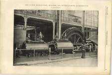 1900 1000 Hp Kolben Alternator At The Paris Exhibition Elevation Plan