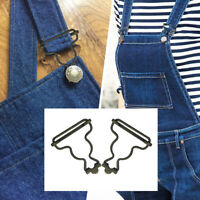 53mm x 42mm Metal Bronzes Clip Dungaree Buckles Fastener DIY For Sewing Jumpsuit