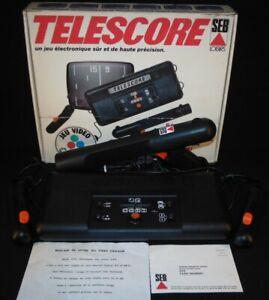 Console TeleScore .752 Avec Pistolet / Pong Couleurs! SEB 1979 / Complet ! TTBE!