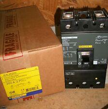 SQUARE D KAL26200 200 AMP 2 POLE 600 VAC 250 DC MAGNETIC ADJUSTABLE TRIP