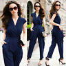 Women's Cocktail Party V Neck Sleeveless Jumpsuit Romper Formal Pants Suits A465