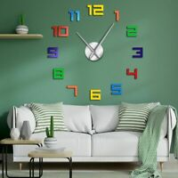 Wall Clock Acrylic Watch Colorful Numbers Designed Home Living Room Decor Clocks