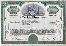 Perkin-Elmer Corporation Stock Certificate New York