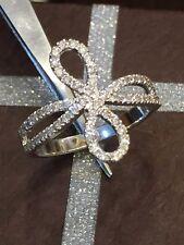 Pave 0.52 Cts Round Brilliant Cut Natural Diamonds Ring In Hallmark 14Carat Gold