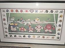 NFL- Warner Bros McKimson 3 Yards & Cloud of Dust Looney Tunes Litho- signed #93