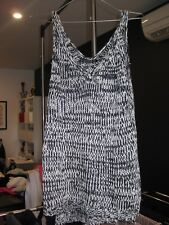 Cotton On Womens Knit Singlet Top Black & White - Size S, Great Condition!!