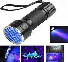 UV Ultra Violet 21 LED Flashlight Mini Blacklight Aluminum Torch Light Lamp