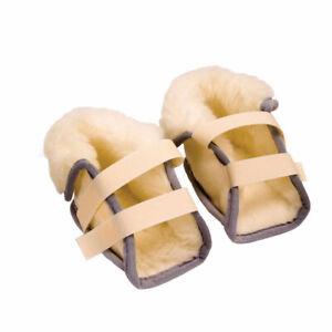 NRS Healthcare Fleece Heel Protectors Pure Wool for Pressure Care - Pair