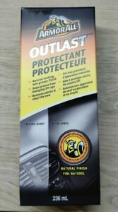 Armor All Outlast Protectant Interior Finish Restores Plastic Vinyl UV Ray