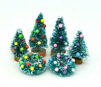 Christmas Tree Fireplace Furniture Presents Decoration Dolls House Miniature