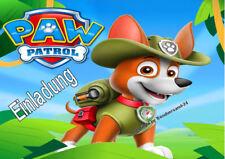 6 Paw Patrol Kindergeburtstag Einladungskarten + 6 Umschläge E4 ( 1 )