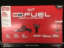 Milwaukee 2593-22 M12 FUEL Impact Driver and HACKZALL 4.0Ah + 2.0Ah Combo Kit