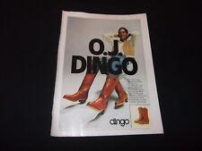 O.J. Simpson Dingo Boots Ad 8 x 11 Advertisement Vintage Magazine Carlton Back