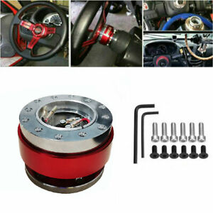 Universal Steering Wheel Quick Release Hub Adapter Lock Ball Boss Snap Off Red
