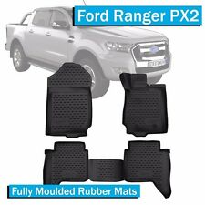 Ford Ranger PX 2 (2015-Current)  - 3D Moulded Rubber Floor Mat Set Front & Rear