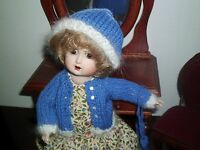 NO DOLL BEAUTIFUL AUTHENTIC REPRO SWEATER SET 4 BLEUETTE DOLL SEELEY BODY  11""