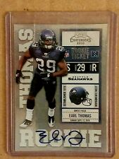 2010 Playoff Contenders Earl Thomas Auto Rookie Card Ticket RC Seattle Seahawks