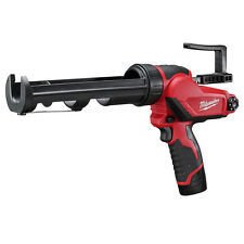 Milwaukee 2441-21 M12 12-Volt 10-Ounce Caulk And Adhesive Gun w/ Batteries