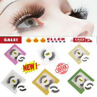 3D Real Nerz falsche Wimpern Cross Messy Soft Eye Lashes mit Glitzer-Box Sg