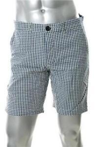 Trovata Sir Mens Blue Plaid Casual Shorts Size 32 NWT $150