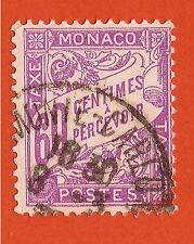 MONACO 1905 Timbre TAXE 60 centimes à percevoir  oblitérés  E182