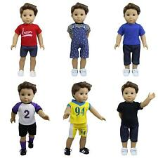 """6 Set Daily Casual Clothes Outfits Soccer Jersey for 18"""" American Boy Logan Doll"""