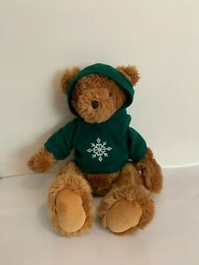 "Vintage Russ Plush Red Snowflake Shirt 18"" Teddy Bear Ritz Camera Center"