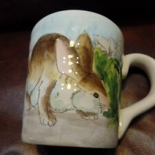 Bunny Easter Mug Cabbage Maxcara Dinnerware Easter Large New