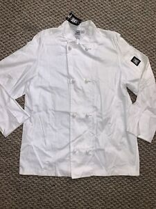 Chef Revival Size Medium Double Breasted Long Sleeve Jacket White New