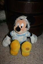 """Disney 17"""" Mickey Mouse White Snowflake Blue Sweater Winter Plush Snow  #AA2"""