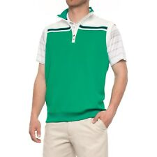 New Bobby Jones Men's XH20 Tech Stripe UPF 15 Golf Vest Lagoon Large