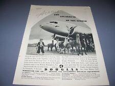 "VINTAGE..1936 DOUGLAS DC-3 ""GRACE AIRWAYS""..ORIGINAL SALES AD...RARE! (484G)"