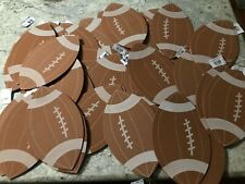 45 Darice Foamies Shaped Footballs 6.5 x 10.5 inches New Ready to Decorate