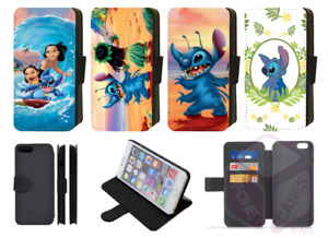 Disney LILO & STITCH Hawaii, surfing Wallet Flip Phone Case iPhone ALL models