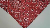 Dog Bandana/Scarf Country Western Red Floral Custom Made by Linda xS,S,M,L