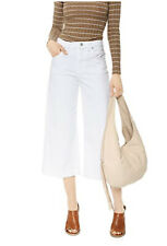 7 For All Mankind Size 28 Culotte Clean White Cropped Pants Jeans