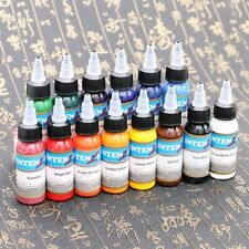 Professional Tattoo Ink Monochrome 14Colors Set 30ml/Bottle Tattoo Pigment Showy