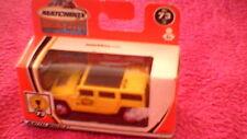 "Matchbox - 1-75 ""Hero City"" - #73 Hummer H2 SUV Concept - Yellow (+ Logo)"