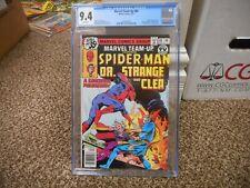 Marvel Team Up 80 cgc 9.4 Amazing Spiderman Dr Strange Clea WHITE pgs 1979 NM M