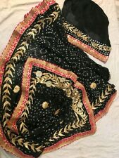 Designer Bandhani Silk Bandhej Saree Gota Patti Border Partywear Wedding Sari