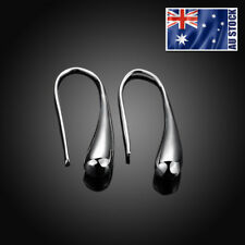 NEW Wholesale Stunning 925 Sterling Silver Filled Solid Teardrop Drop Earrings