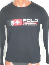 "Polo Ralph Lauren Black  Suisse Slalom Racing Red White Design 40"" Chest"