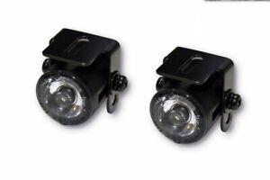 Motorbike Motorcycle Daytime Running Lights LED Custom Black with Bracket