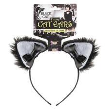 Nuevo temática animales gato negro orejas peludas