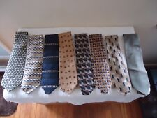 "Mixed Lot Of 8 Mens Neck Ties Of Various Brands,etc. "" BEAUTIFUL ASSORTMENT """