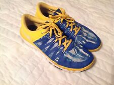 Nike Mens Shoes Size 11.5 Free 5.0 TR Blue Yellow