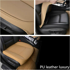 1pcs Car Front Seat Cover PU Leather Universal Seat Cushion Protector Beige